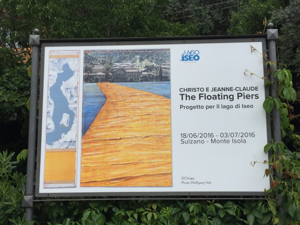 Christo floating piers installation