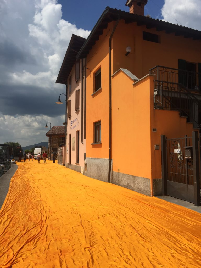 Christo floating piers Monte Isola